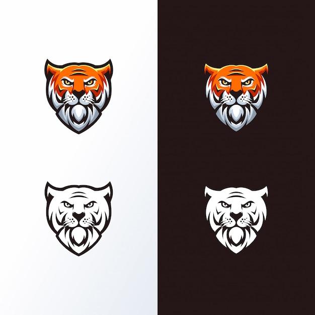 Tiger head logo ready to use Premium Vector