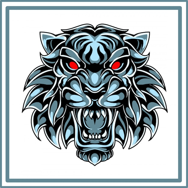 Логотип талисмана головы тигра Premium векторы
