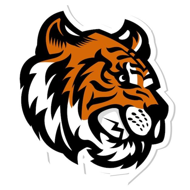 tiger head mascot logo vector premium download