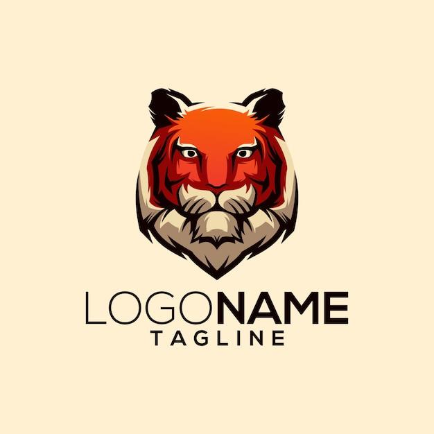 Tiger logo design Premium Vector