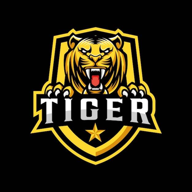 Tiger mascot logo design Premium Vector
