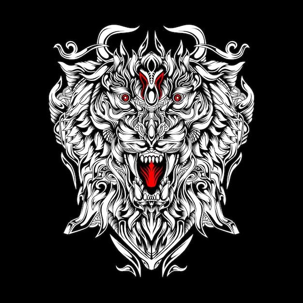 Tiger max knight esportロゴ Premiumベクター