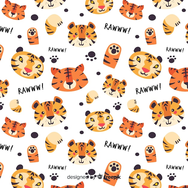 Tiger pattern background Free Vector