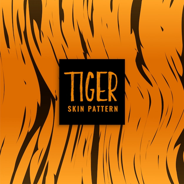 Tiger pattern skin texture design Free Vector
