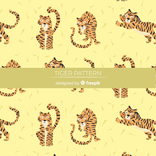 Tiger pattern Free Vector