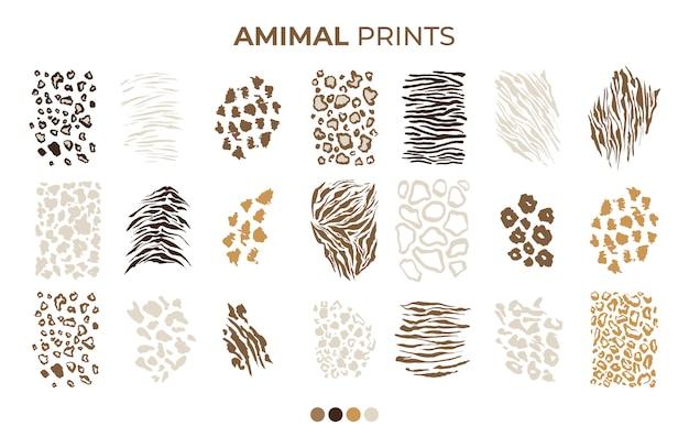 タイガープリントパターン、サファリヒョウ、ジャガーの皮 無料ベクター