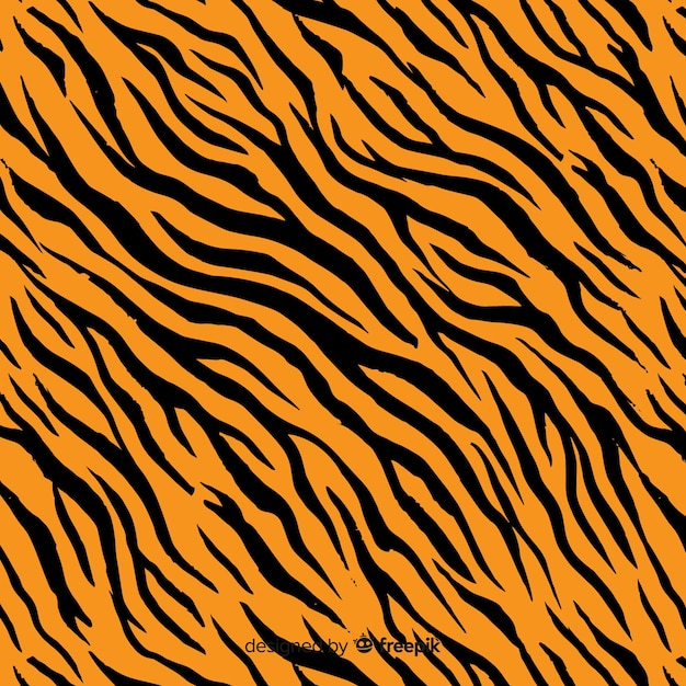 Tiger stripes background Free Vector