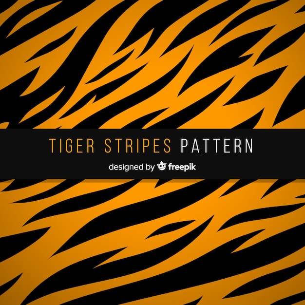 Tiger stripes pattern Free Vector