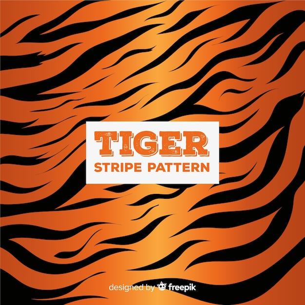 Tiger stripes pattern Free Vector