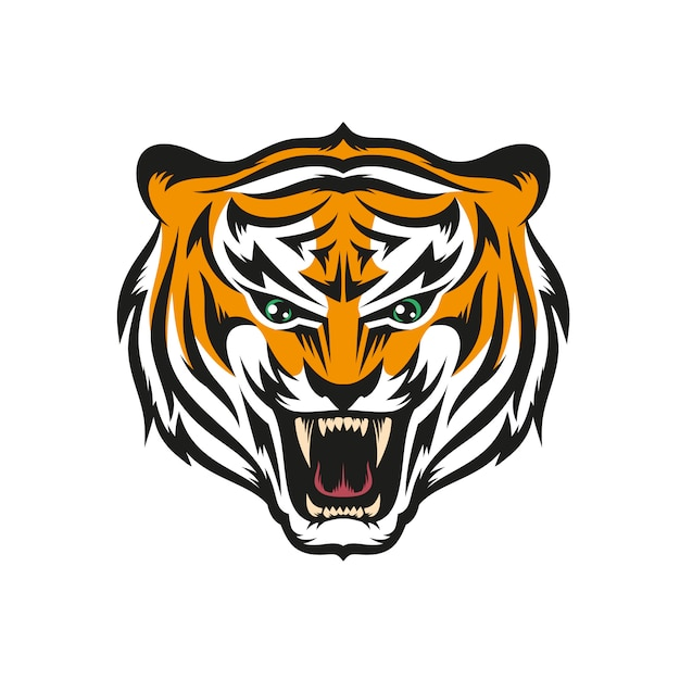 Tiger with grin Premium Vector