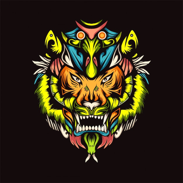 Tiger z vector illustration Premium Vector