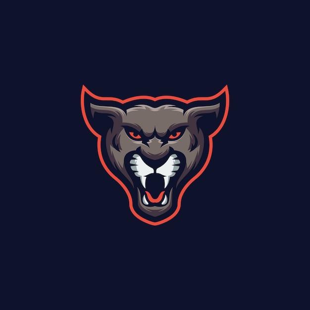 Логотип спортивного логотипа tiger здесь Premium векторы