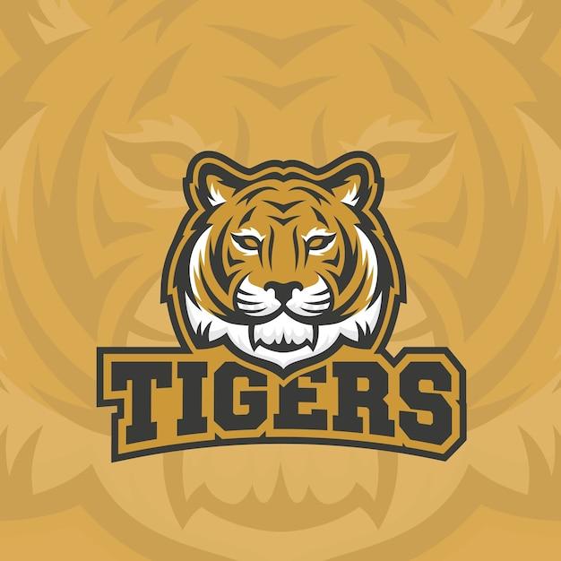 タイガースの抽象的なサイン、エンブレムまたはロゴ 無料ベクター