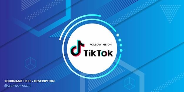 幾何学的な抽象的な背景を持つtiktokソーシャルメディアテンプレート Premiumベクター