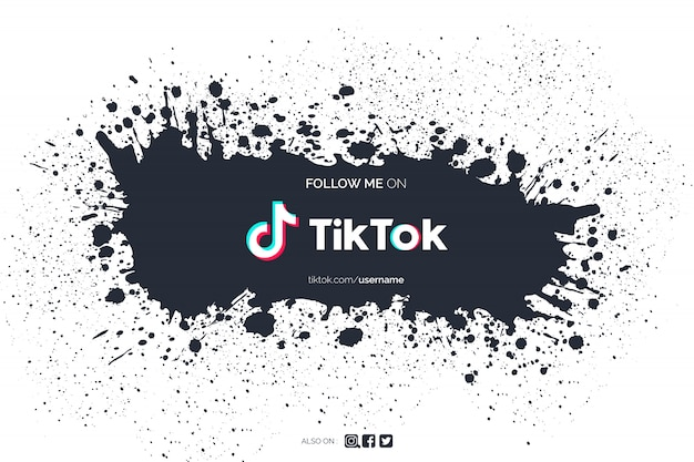 Tiktok background with paint splash Free Vector