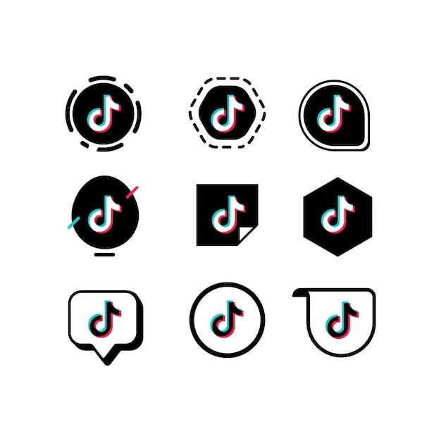 Collezione logo tiktok Vettore gratuito