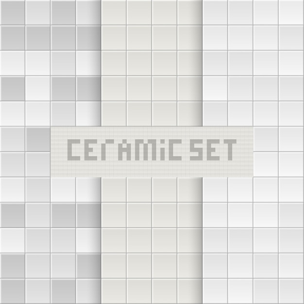 Tile background. brick texture. square tiles. Premium Vector