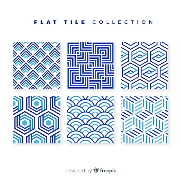 Tile pack in flat style Free Vector