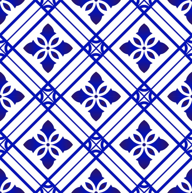 Tile pattern vector Premium Vector