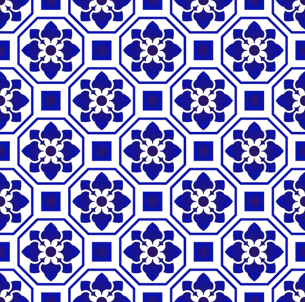 Tile pattern Premium Vector