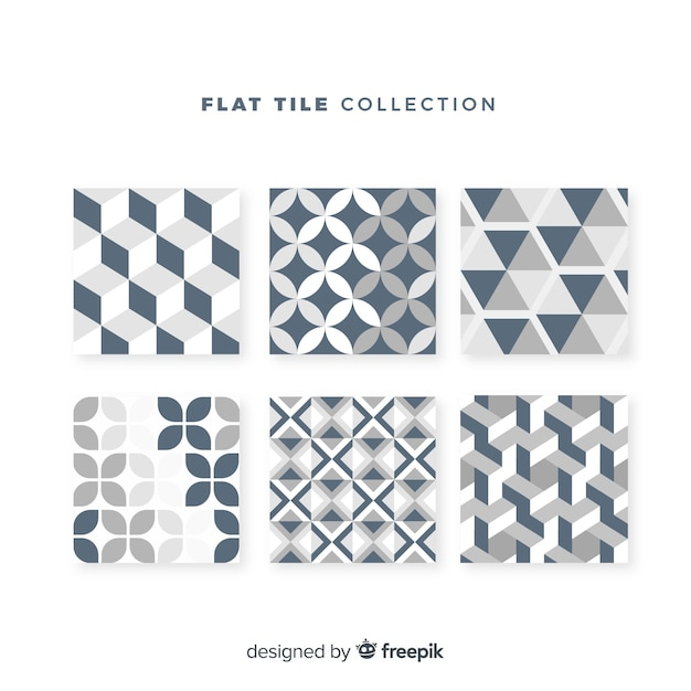 Tile set in flat style Free Vector