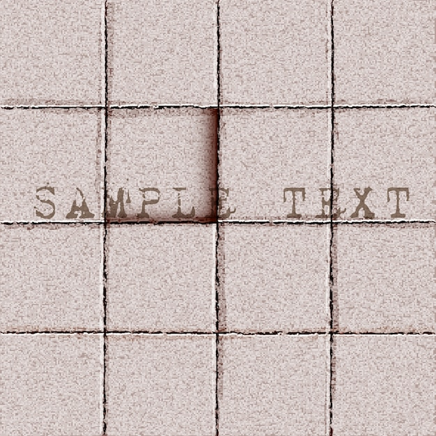 Tiles ground background Premium Vector