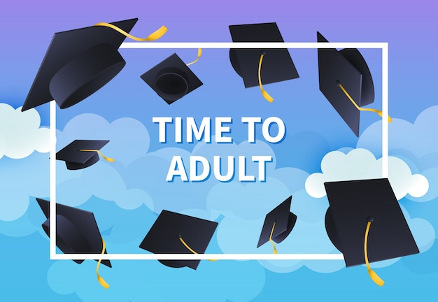 Time to adult festive banner design Free Vector