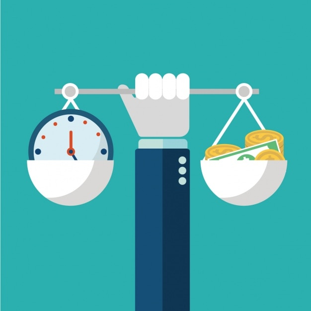 Time and money Free Vector