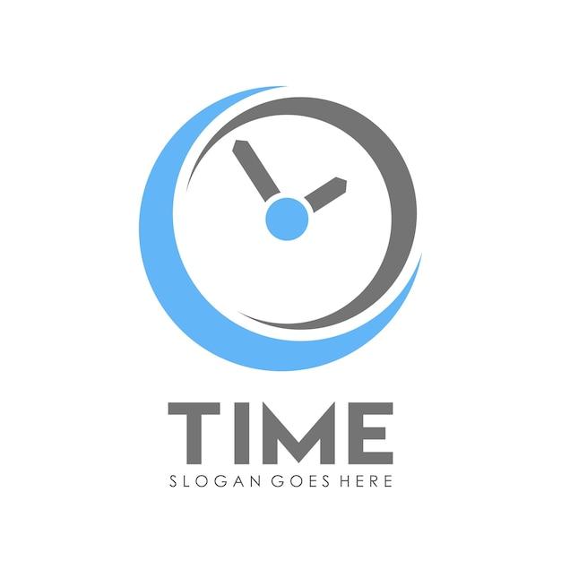 time clock logo design template vector premium download