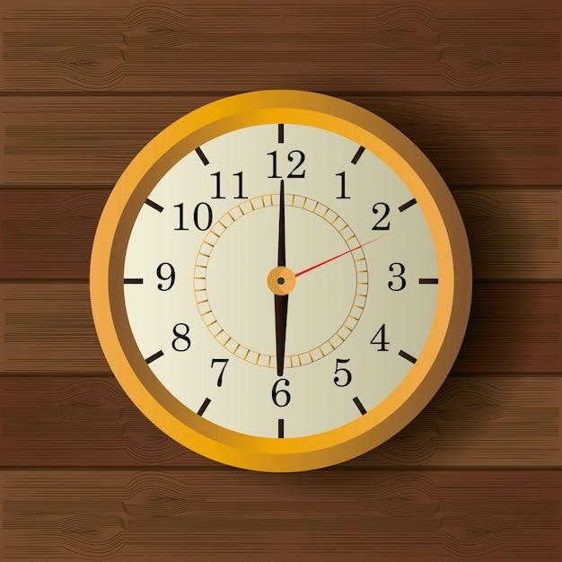 時間時計のビンテージデザイン 無料ベクター