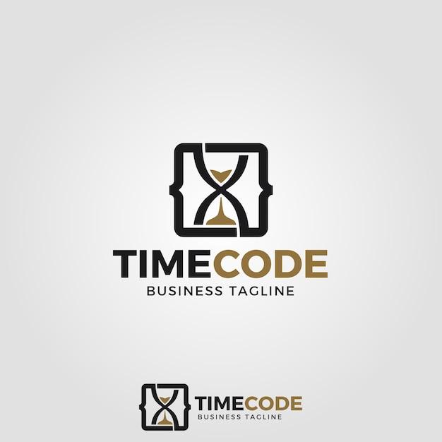 Time code logo template Vector   Premium Download