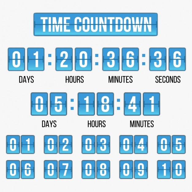Time Countdown Template Vector  Free Download