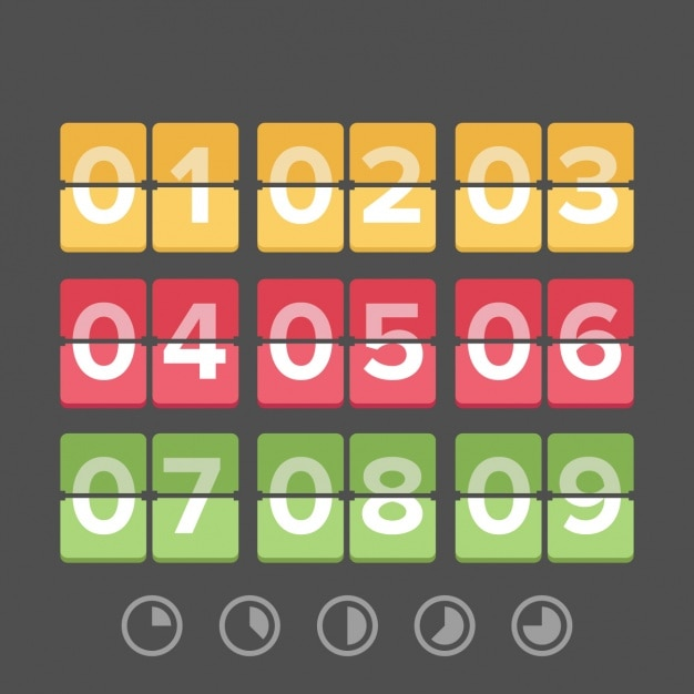 Time countdown template Free Vector