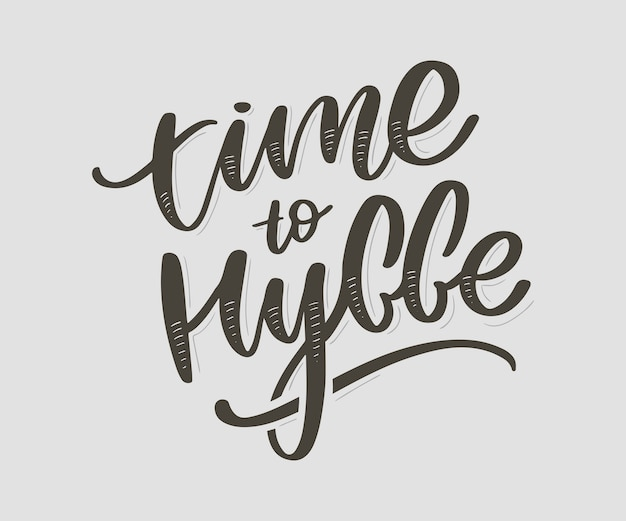 Time to hygge. inspirational quote. danish word hygge means coziness, relax and comfort. black lettering Premium Vector