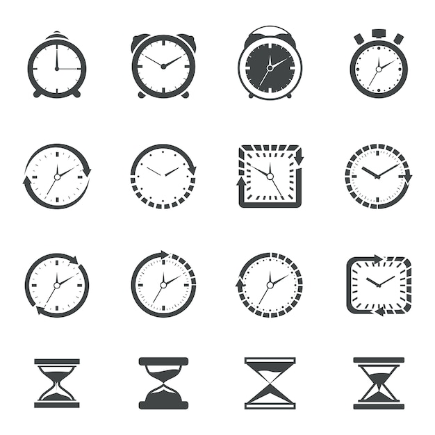 Time icon collection Free Vector