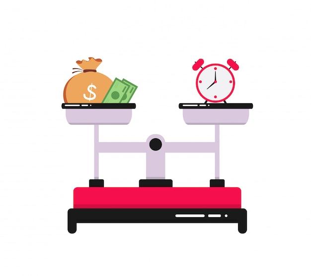 Концепция времени - деньги Premium векторы