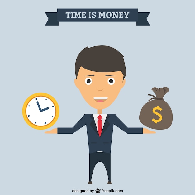 Time is money Free Vector