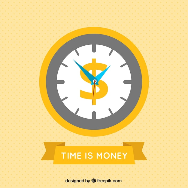 Time is money Premium Vector