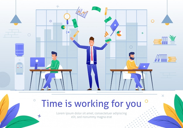 Time is working for you Premium Vector