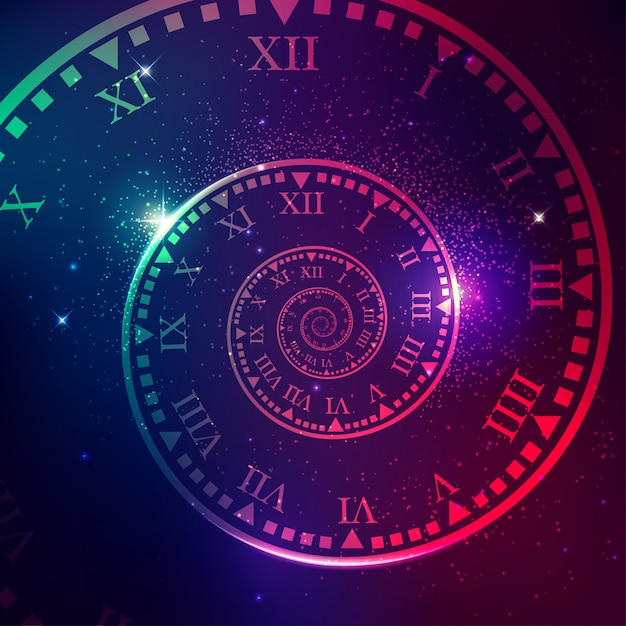 Time machine Premium Vector