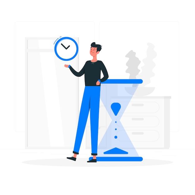 time management concept illustration 114360 1126 - 6 دلیل که، چرا به برنامه ریزی هامون نمیرسیم؟