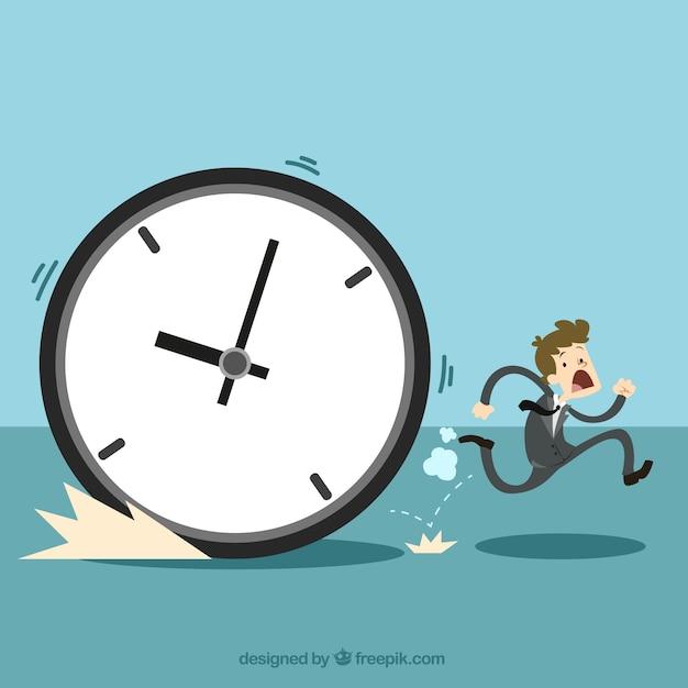 The time management concept Premium Vector