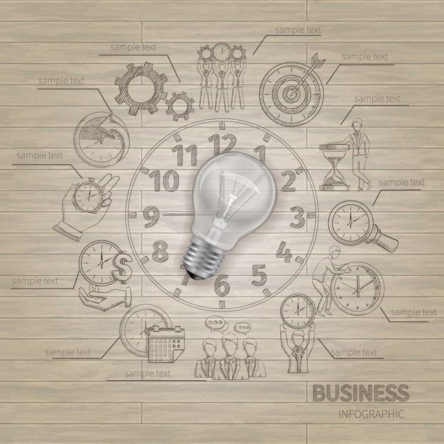 Time management infographics Free Vector