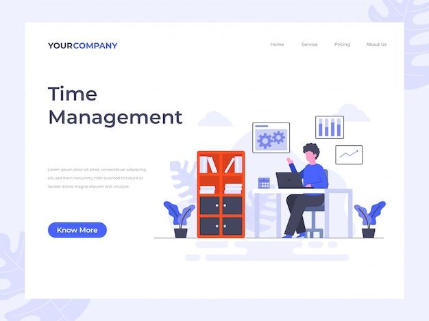 Time management landing page Premium Vector