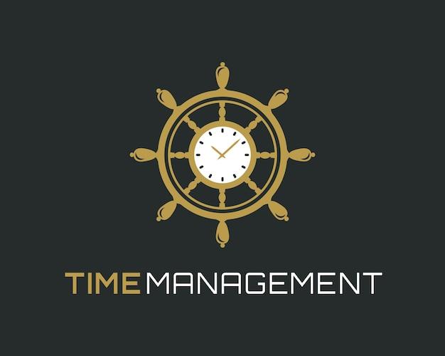 Time management logo. Premium Vector