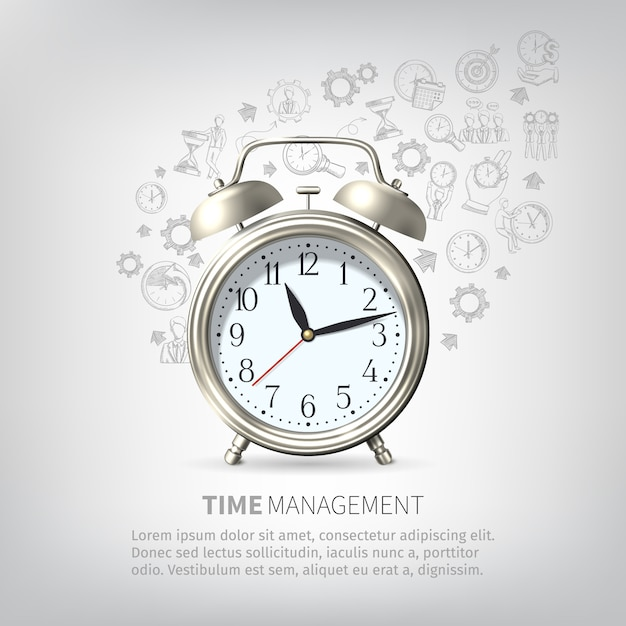 Time management poster Free Vector