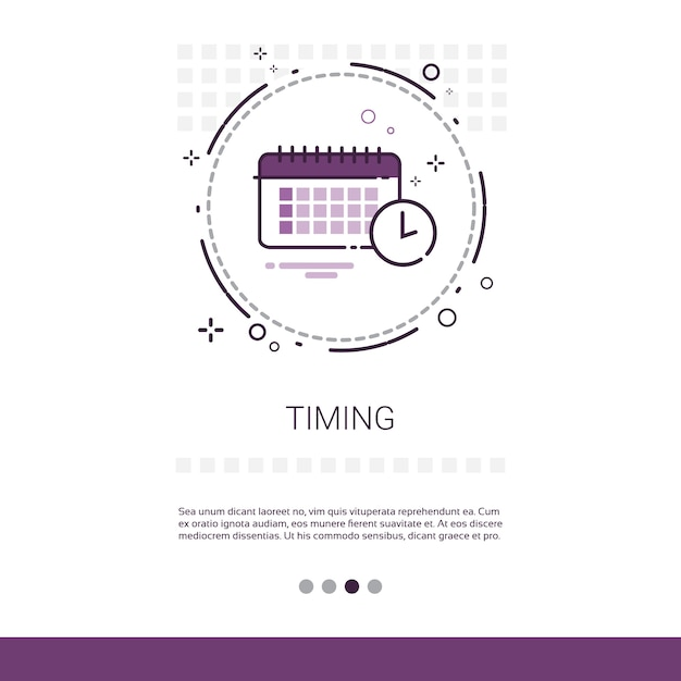 Time management timing events Premium Vector