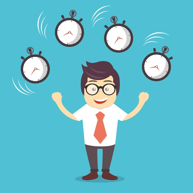Time Management Vector  Free Download