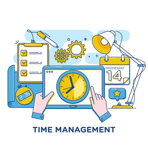 Time management Premium Vector