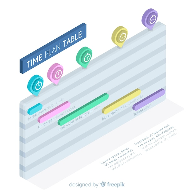 Time plan table design Free Vector